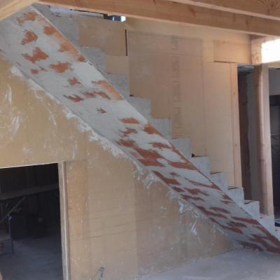 escalier droit voûtes sarazinne