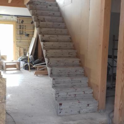 escalier droit voûtes sarasinnes