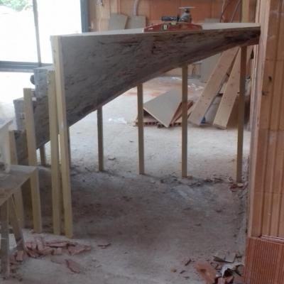 Départ escalier quart tournant