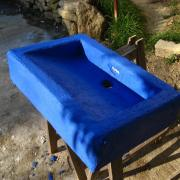 Tadelakt bleu
