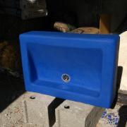 Evier tadelakt bleu